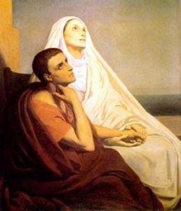 biografia de santa monica